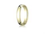 Benchmark® 10k Gold 4.5mm European Comfort-fit Ring style: EUCF14510K