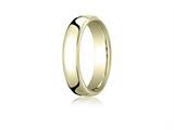 Benchmark® 10k Gold 5.5mm European Comfort-fit Ring style: EUCF15510K