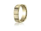Benchmark® 7mm Comfort-fit Four-sided Grid Pattern Carved Design Band style: EURECF57181