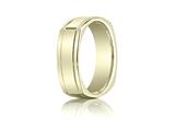 Benchmark® 7mm Comfort-fit High Polished Four-sided Carved Design Band