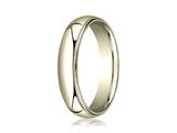 Benchmark® 14k Gold 5mm Slightly Domed Standard Comfort-fit Ring With Milgrain style: LCF350