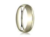 Benchmark® 14k Gold 6mm Slightly Domed Standard Comfort-fit Ring With Milgrain style: LCF360