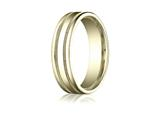 Benchmark® 6mm Comfort-fit High Polished With Milgrain Round Edge Carved Design Band style: RECF760110K