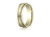 Benchmark® 6mm Comfort-fit Satin-finished With Milgrain Round Edge Carved Design Band style: RECF7601S18K