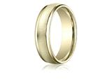 Benchmark® 6mm Comfort-fit Wired-finished High Polished Round Edge Carved Design Band style: RECF760210K