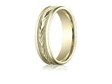 Benchmark 6mm Comfort-fit Harvest Of Love Round Edge Carved Design Band