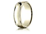 Benchmark® 14k Gold 7mm Comfort-fit High Polish Finish Round Edge Design Band style: RECF77200