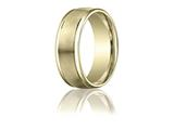 Benchmark® 8mm Comfort-fit Satin-finished High Polished Round Edge Carved Design Band