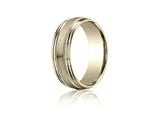 Benchmark® 7.5mm Comfort-fit Satin-finished With Milgrain Double Round Edge Carved Design Band style: RECF8750418K