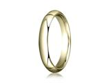 Benchmark 14k Gold 4.0mm Slightly Domed Super Light Comfort-fit Wedding Band / Ring