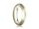 Benchmark® 14k Gold 5.0mm Slightly Domed Super Light Comfort-fit Wedding Band / Ring