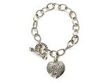 Heart Charm Sterling Silver Bracelet by Effy Collection