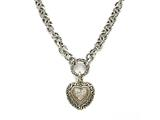 Diamonds Heart Charm Sterling Silver Necklace by Effy Collection