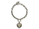 Diamonds Heart Charm Sterling Silver Bracelets by Effy Collection