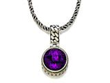 Silver and 18kt Yellow Gold Genuine Amethyst Necklace by Effy Collection® style: 520139