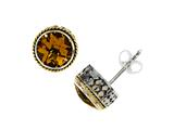 Silver and 18kt Yellow Gold Genuine Citrine Earrings by Effy Collection
