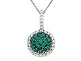Genuine Emerald and Diamond Pendant by Effy Collection