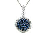 Genuine Sapphire and Diamond Pendant by Effy Collection