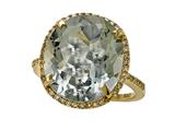 Genuine Green Amethyst Ring by Effy Collection