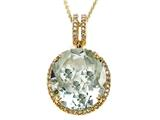 Genuine Green Amethyst Pendant by Effy Collection® style: 520179