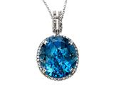 Genuine Blue Topaz Pendant by Effy Collection