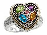 Balissima By Effy Collection Sterling Silver and 18k Yellow Gold 0.90 cttw Multicolor Ring style: 520217