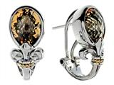 Balissima By Effy Collection Sterling Silver and 18k Yellow Gold Fleur de Lis Citrine Earrings
