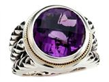 Balissima By Effy Collection Sterling Silver and 18k Yellow Gold Amethyst Ring