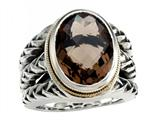 Balissima By Effy Collection Sterling Silver and 18k Yellow Gold Smoky Quartz Ring style: 520348