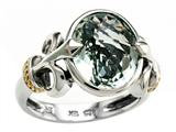 Balissima By Effy Collection Sterling Silver and 18k Yellow Gold Green Amethyst Ring style: 520361