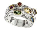 Balissima By Effy Collection Sterling Silver and 18k Yellow Gold 1.05 cttw Multicolor Ring
