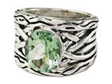 Balissima By Effy Collection Sterling Silver Green Amethyst Ring