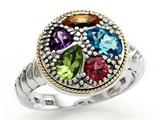 Balissima By Effy Collection Sterling Silver and 18k Yellow Gold 1.50 cttw Multicolor Ring