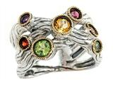 Balissima By Effy Collection Sterling Silver and 18k Yellow Gold 0.90 cttw Multicolor Ring