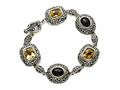 Citrine and Smoky Quartz Sterling Silver Bracelet by Effy Collection