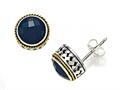 Silver and 18kt Yellow Gold Genuine Onyx Earrings by Effy Collection®