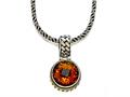 Silver and 18kt Yellow Gold Genuine Citrine Necklace by Effy Collection®