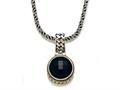 Silver and 18kt Yellow Gold Genuine Onyx Necklace by Effy Collection®