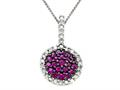 Genuine Ruby and Diamond Pendant by Effy Collection
