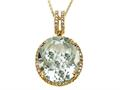 Genuine Green Amethyst Pendant by Effy Collection
