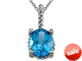 Genuine Blue Topaz Pendant Necklace by Effy Collection® style: 520036