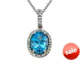 Genuine Blue Topaz Pendant by Effy Collection® style: 520054