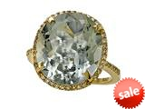 Genuine Green Amethyst Ring by Effy Collection®