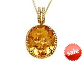 Genuine Citrine Pendant by Effy Collection® style: 520178