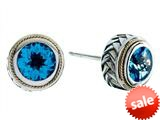 Balissima By Effy Collection Sterling Silver and 18k Yellow Gold Blue Topaz Earrings style: 520232