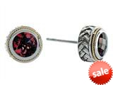 Balissima By Effy Collection Sterling Silver and 18k Yellow Gold Garnet Earrings style: 520235