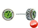 Balissima By Effy Collection Sterling Silver and 18k Yellow Gold Peridot Earrings style: 520236