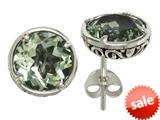 Balissima By Effy Collection Sterling Silver Green Amethyst Earrings style: 520254