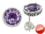 Balissima By Effy Collection Sterling Silver Amethyst Earrings style: 520255