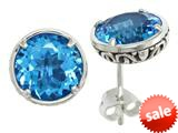 Balissima By Effy Collection Sterling Silver Blue Topaz Earrings style: 520256